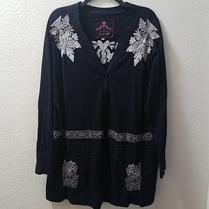 Johnny Was Los Angeles Embroidered Cardigan